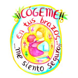 Logo para simbolizar que los niños en nuestros brazos están seguros