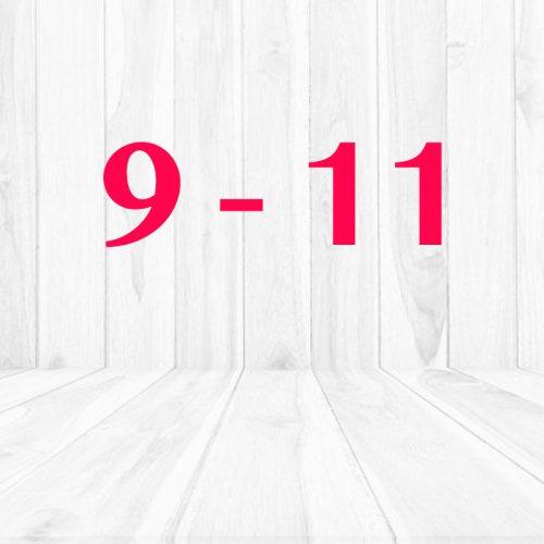 9 - 11 años